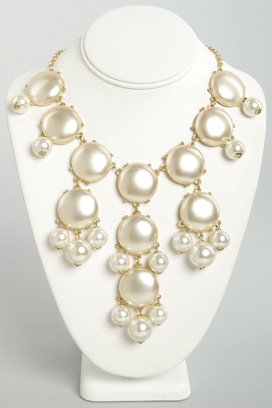 Bubble Over Cream Statement Necklace at Lulus.com!