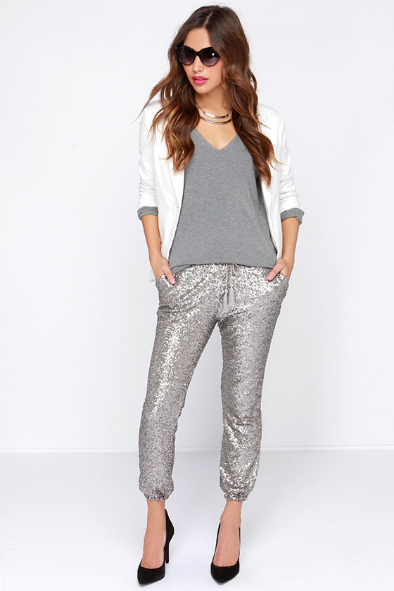 Amuse Society Mason - Sequin Pants - Sequin Joggers - $132.00