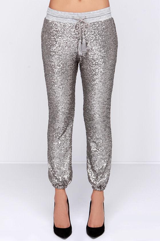 89fb2631d9 Amuse Society Mason - Sequin Pants - Sequin Joggers - $132.00