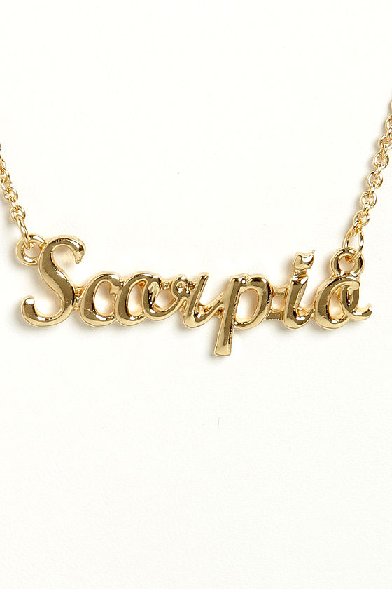 Well-liked Cute Zodiac Necklace - Scorpio Necklace - Gold Necklace - $12.00 EJ06