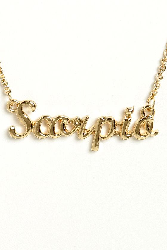 Cute Zodiac Necklace Scorpio Necklace Gold Necklace