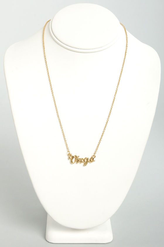 Zodiac Attack Gold Virgo Necklace at Lulus.com!