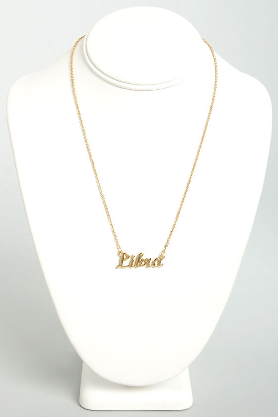 Zodiac Attack Gold Libra Necklace at Lulus.com!