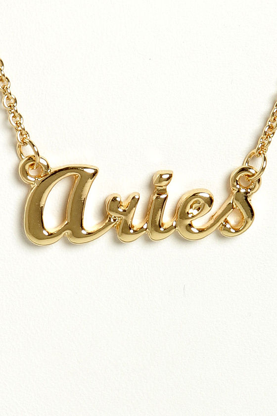 Zodiac Attack Gold Aries Necklace at Lulus.com!