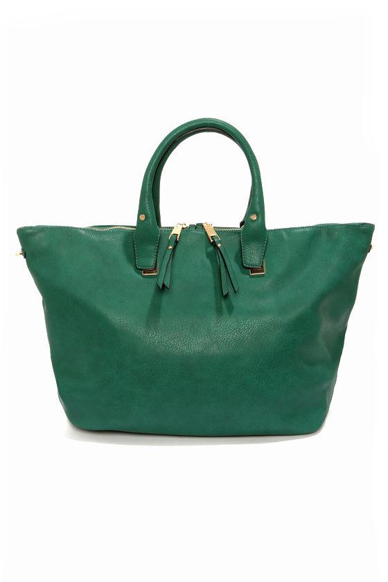 Spaciously Awaiting Green Handbag at Lulus.com!