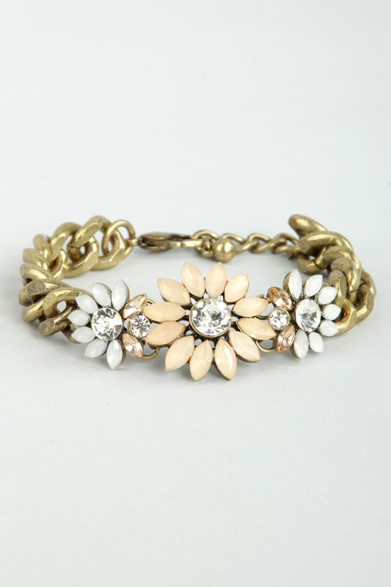 Happy Flower Pastel Rhinestone Bracelet at Lulus.com!