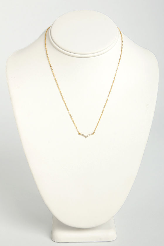 Turning Point Gold Necklace at Lulus.com!