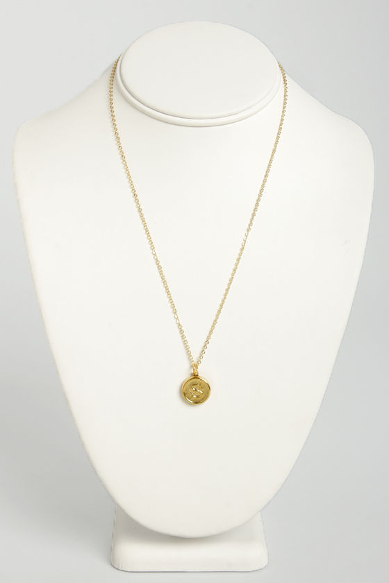 Just My Typewriter Gold S Necklace at Lulus.com!