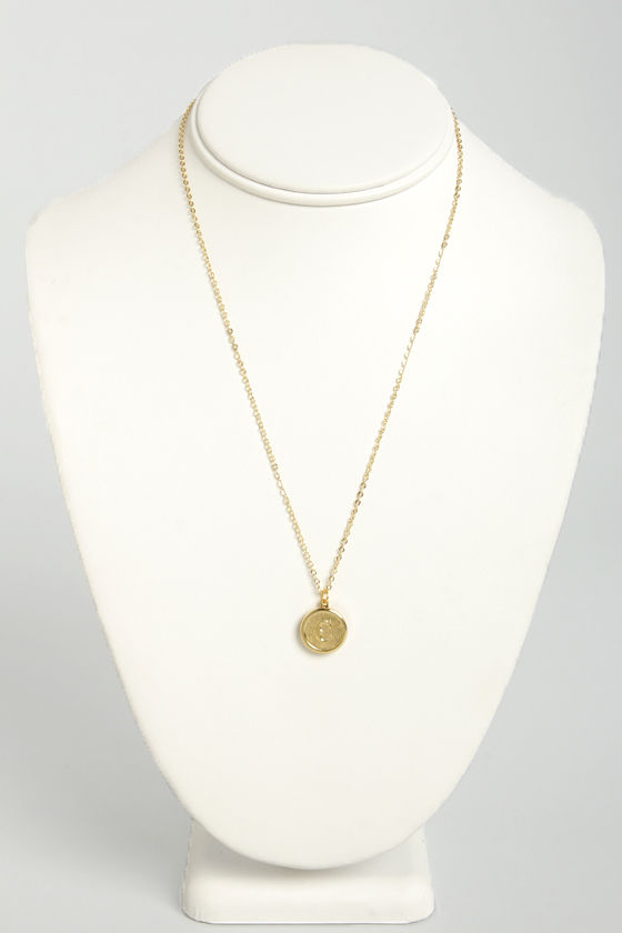 Just My Typewriter Gold C Necklace at Lulus.com!
