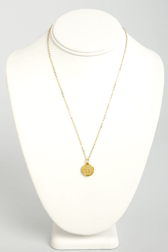 Just My Typewriter Gold K Necklace at Lulus.com!