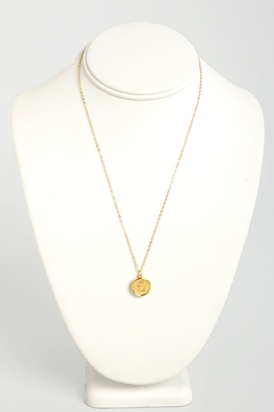 Just My Typewriter Gold L Necklace at Lulus.com!