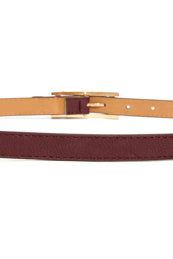 Arrow There Burgundy Belt at Lulus.com!
