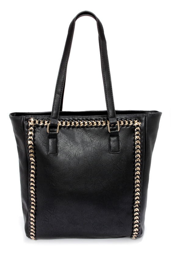 Life in the Fast Chain Black Tote at Lulus.com!