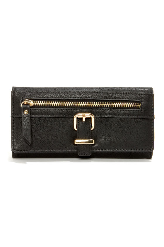 Zip Into Shape Black Wallet at Lulus.com!