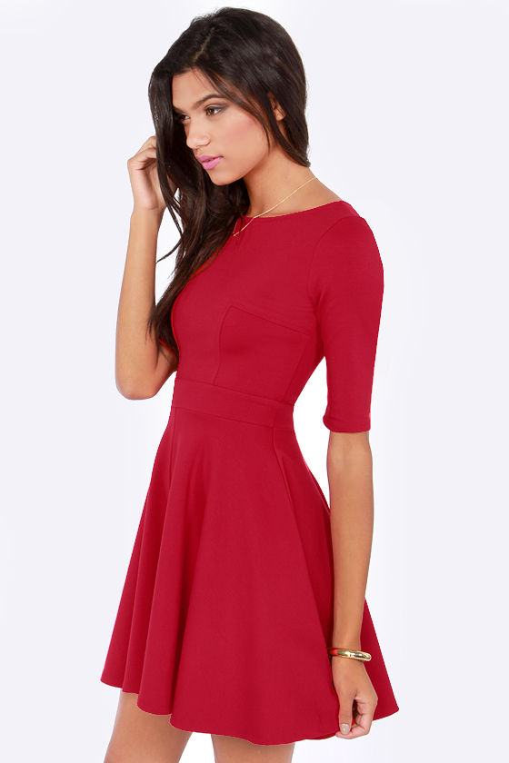 Just a Twirl Red Dress at Lulus.com!