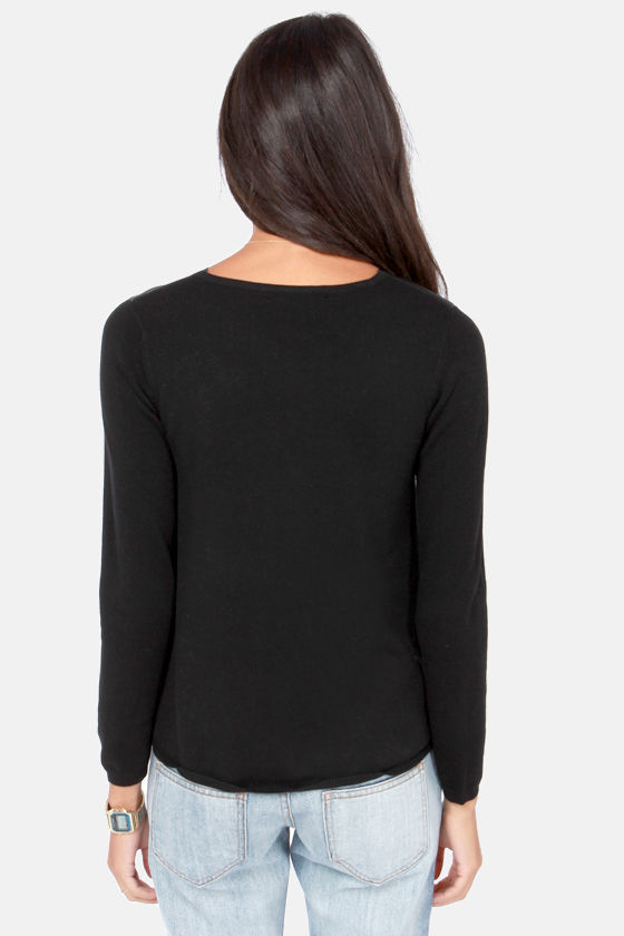 Front Runner Black Sweater Top at Lulus.com!