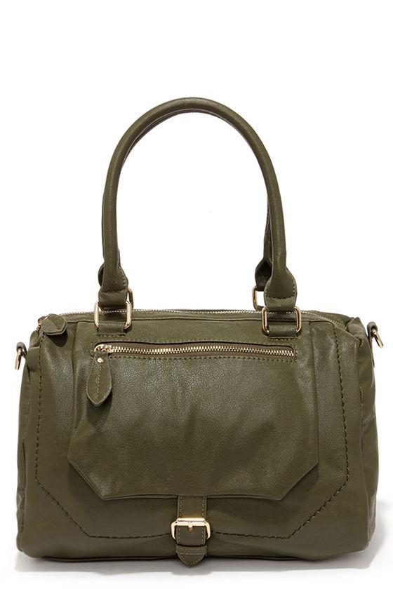 Cute Olive Green Handbag - Vegan Purse - Vegan Handbag - $42.00