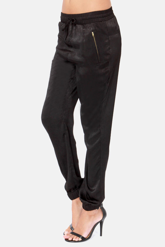 Stealthy Living Black Harem Pants at Lulus.com!