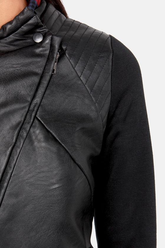 Kick It Into High Gear Black Moto Jacket at Lulus.com!