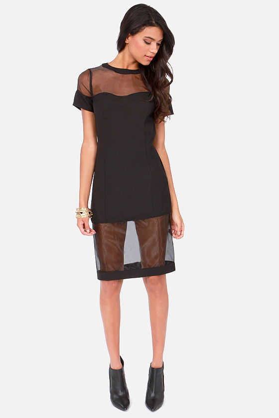 Window of Opportunity Cutout Black Dress at Lulus.com!