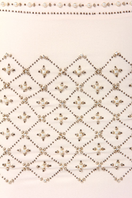 We Had a Grand Old Time Beaded Cream Mini Skirt at Lulus.com!