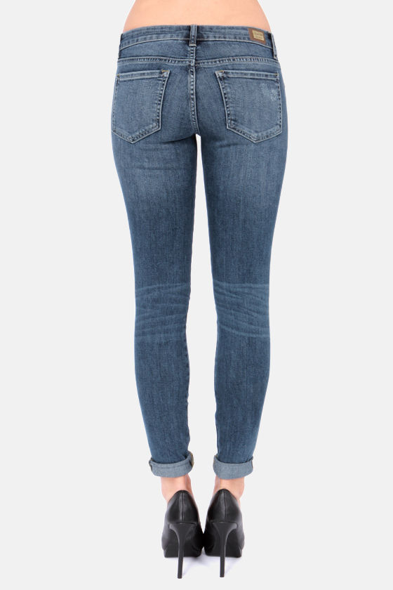 Damsel in Distressed Blue Skinny Jeans at Lulus.com!