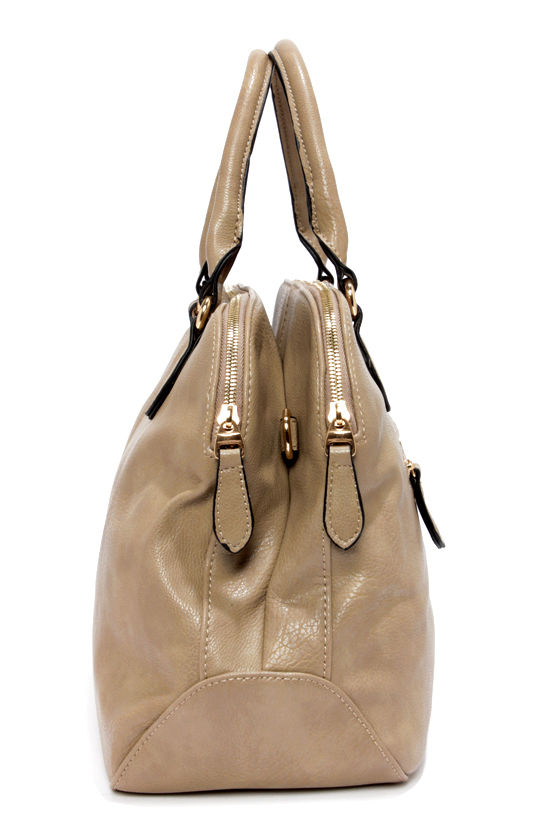 Double Duty Taupe Handbag at Lulus.com!
