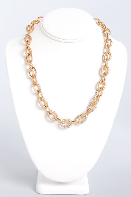Might and Chain Gold Chain Necklace at Lulus.com!