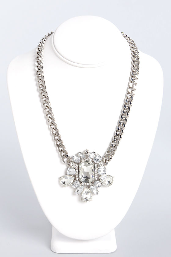 Do Your Own Bling Silver Necklace at Lulus.com!