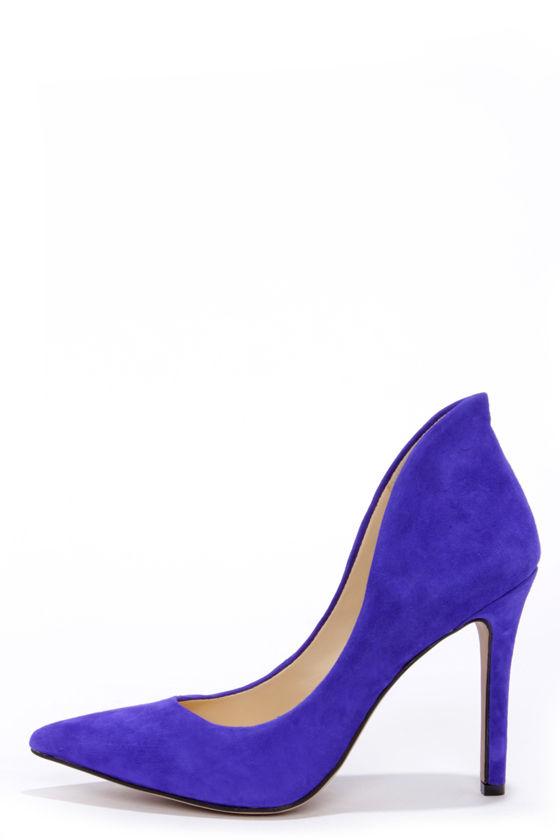 Sexy Blue Heels - Suede Heels - High Heels - $89.00
