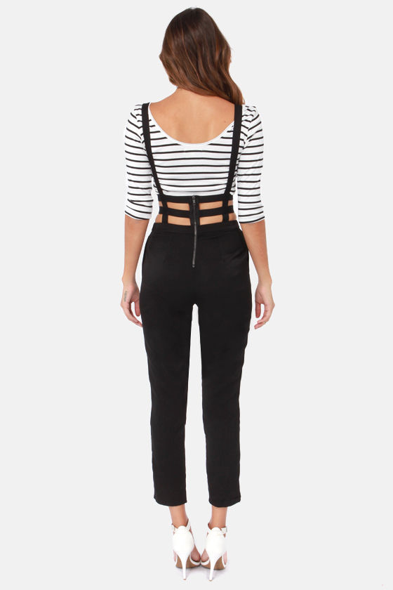 Suspend of Story Black Suspender Pants at Lulus.com!