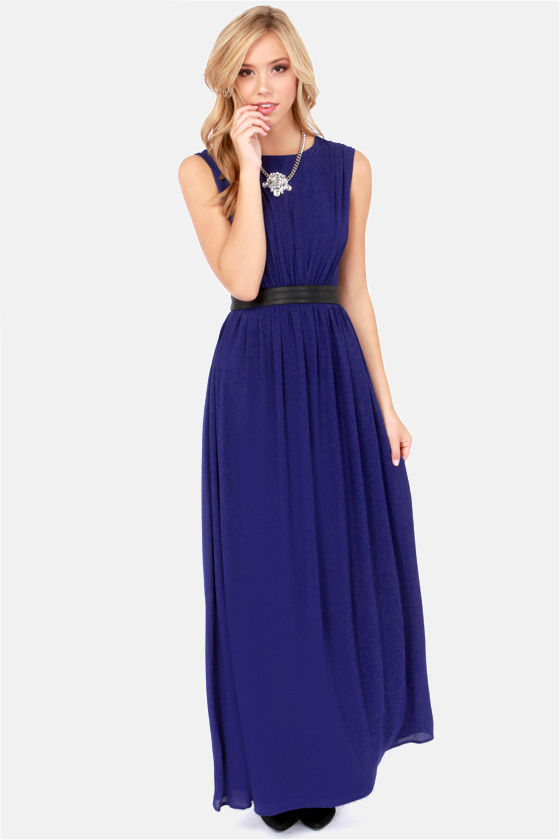LULUS Exclusive Height of My Life Royal Blue Maxi Dress at Lulus.com!