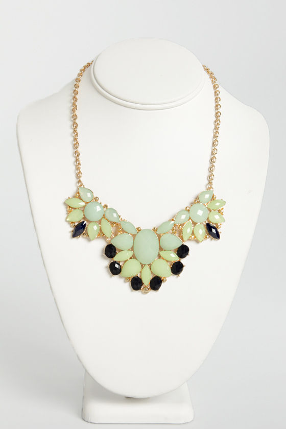 Jewel Spirit Blue Rhinestone Necklace at Lulus.com!