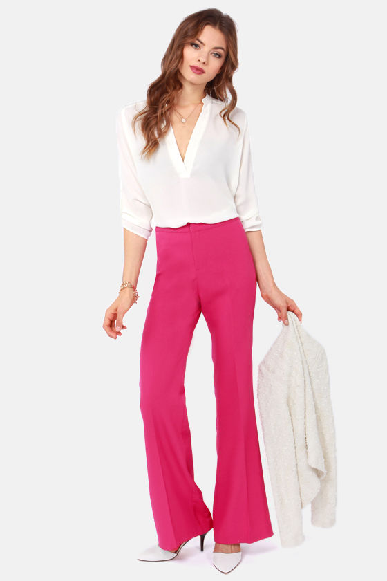 From Far and Wide Magenta Pants at Lulus.com!