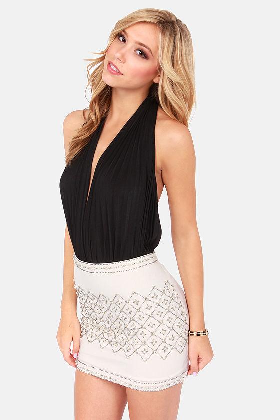 Got the Halts For You Black Bodysuit at Lulus.com!