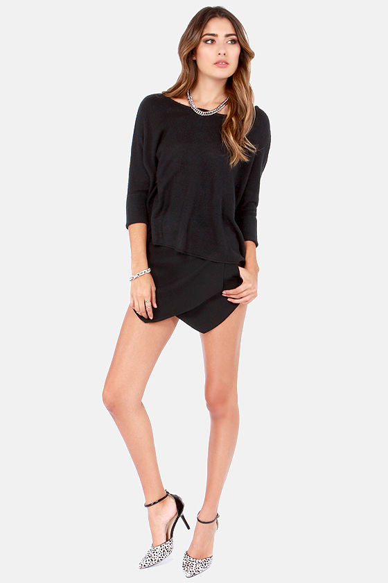 Lavish is My Command Black Sweater at Lulus.com!