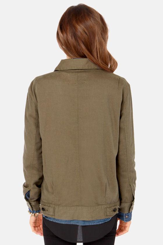 RVCA Beedle - Cute Olive Green Jacket - Military Jacket