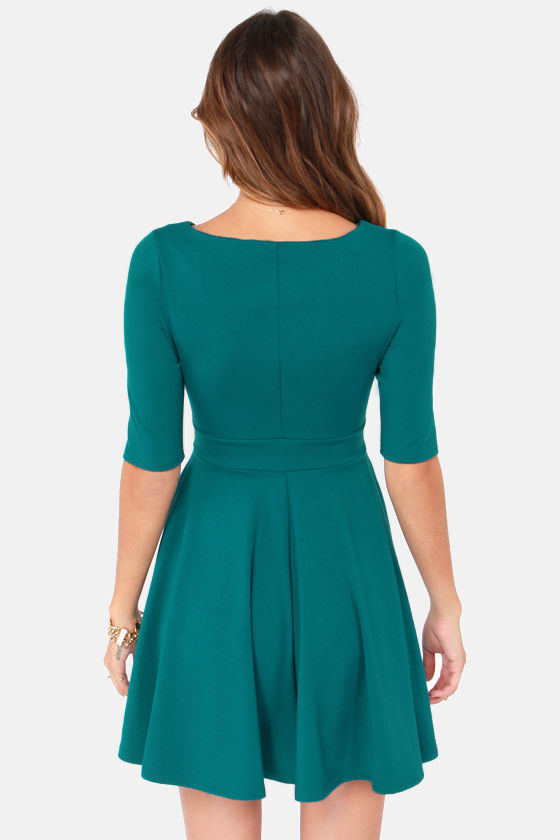 Black Swan Olivia Teal Skater Dress at Lulus.com!