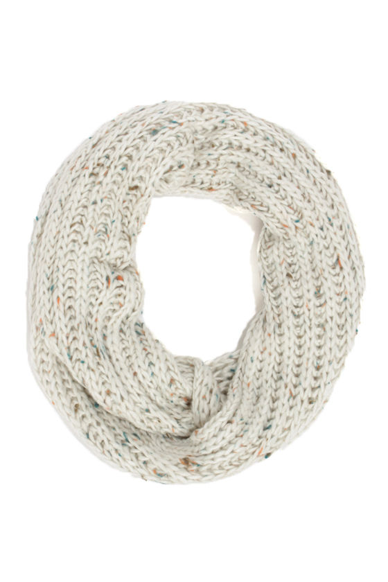 Sprinkles on Top Speckled Ivory Circle Scarf at Lulus.com!