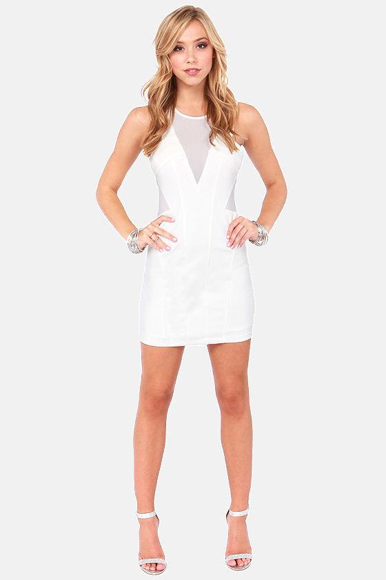 e795f770edf Sexy Ivory Dress - Cutout Dress - Bodycon Dress - $63.00
