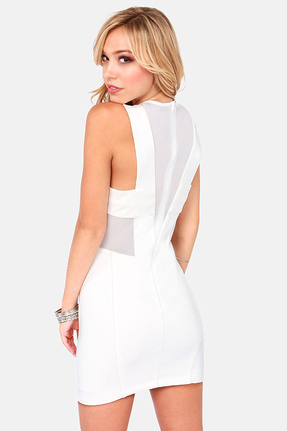 Contour de France Cutout Ivory Dress at Lulus.com!