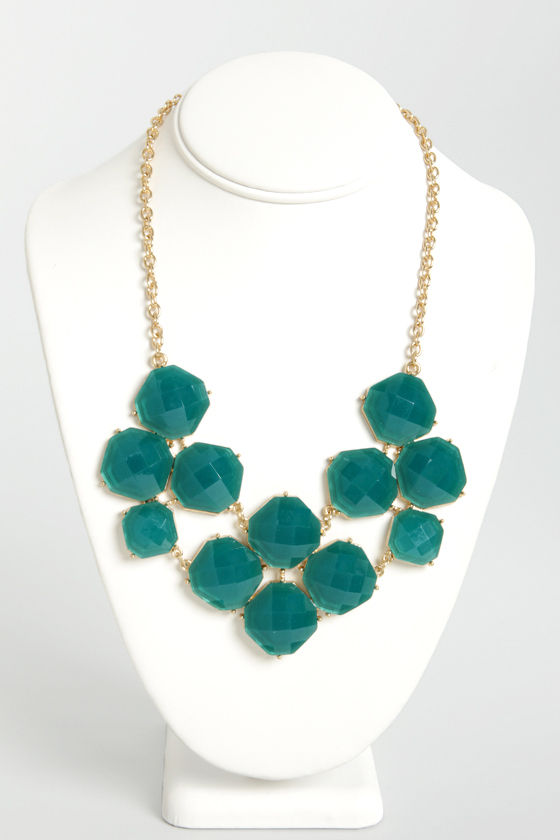 Jewel-cy Fruit Dark Teal Statement Necklace at Lulus.com!