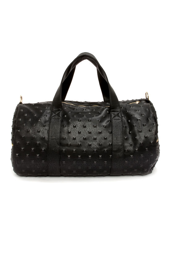 Everyday I'm Duffle-ing Black Duffle Bag at Lulus.com!