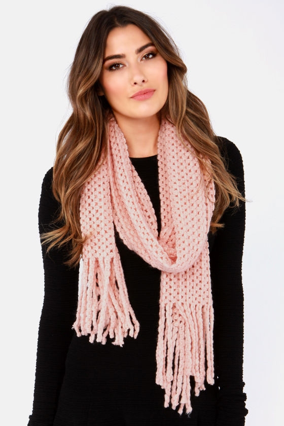 In the Pastel Pink Scarf at Lulus.com!