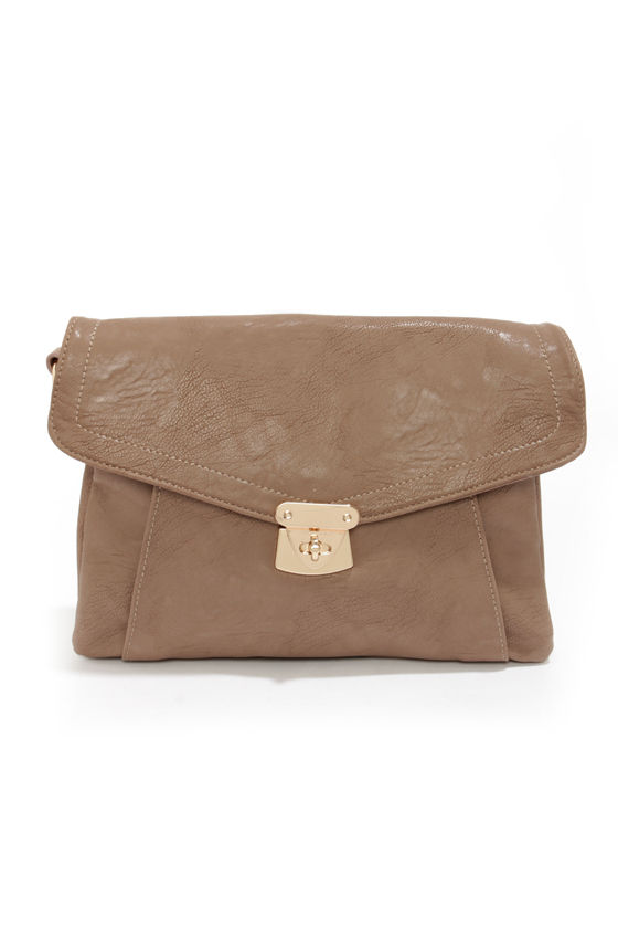 Let's Envelope Taupe Clutch by Urban Expressions at Lulus.com!