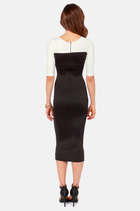 TFNC Telle Black Bodycon Dress at Lulus.com!