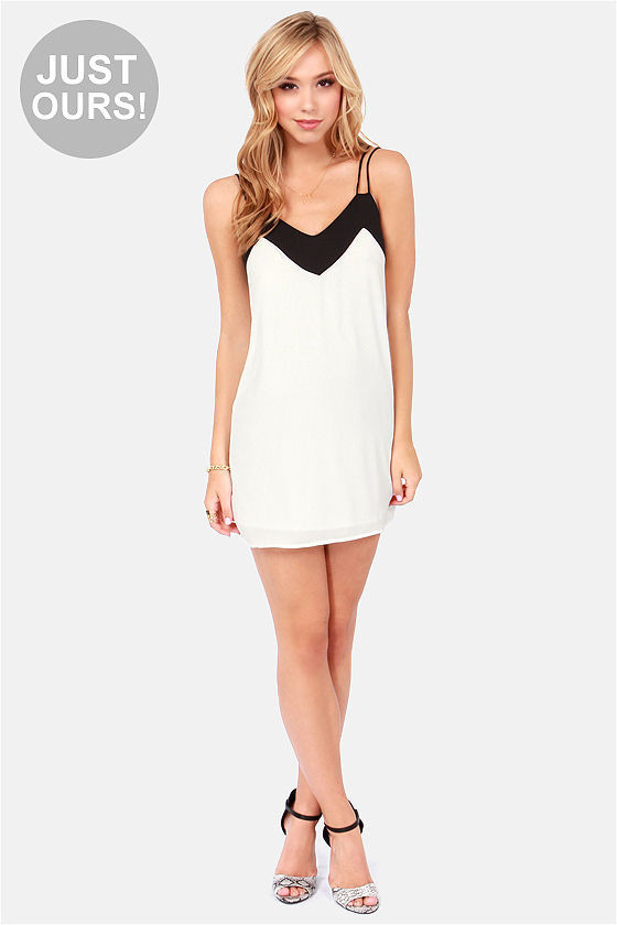 LULUS Exclusive Make My Day Black and White Dress at Lulus.com!