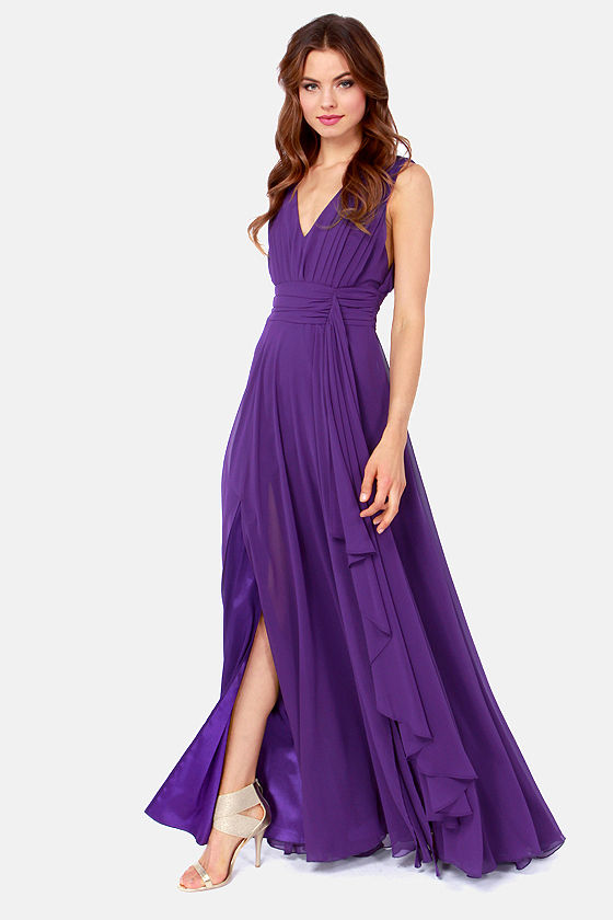 Pretty purple dresses ejn dress for Purple maxi dresses for weddings