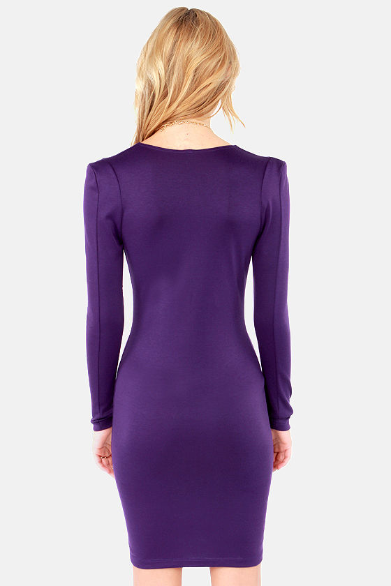 French Flick Purple Dress at Lulus.com!