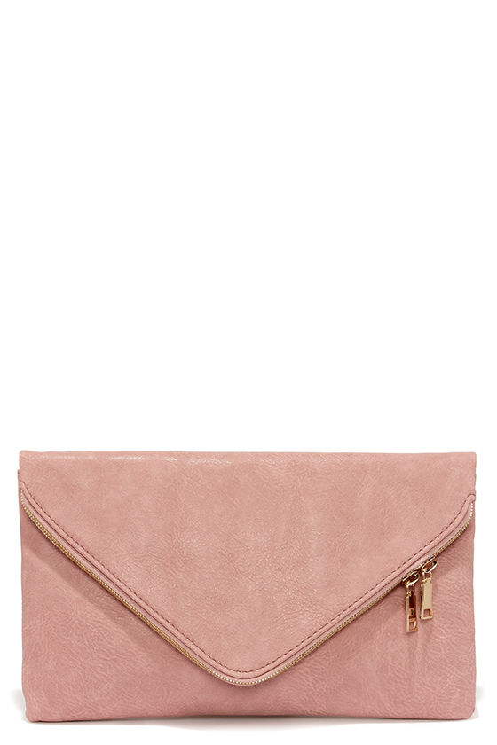 Cute Blush Pink Clutch Envelope Clutch Vegan Leather